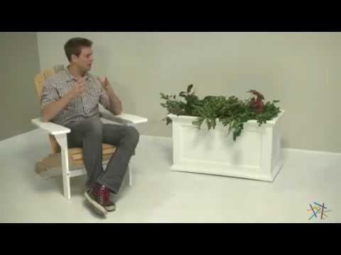 Mayne Rectangle Polyethylene Fairfield Patio Planter Product Review Video