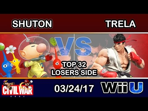 2GGC: Civil War - Shuton (Olimar) Vs. Trela (Ryu) Top 32 Losers - Smash Wii U