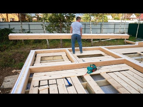 The Warmest Wooden House in 7 days DIY. Step by Step (Part 1)