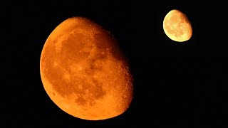 80% Yellow/Orange Moon - Friday August 11, 2017