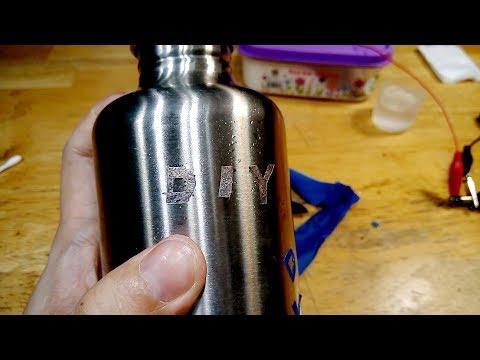 DIY Electrolytic Metal Etching