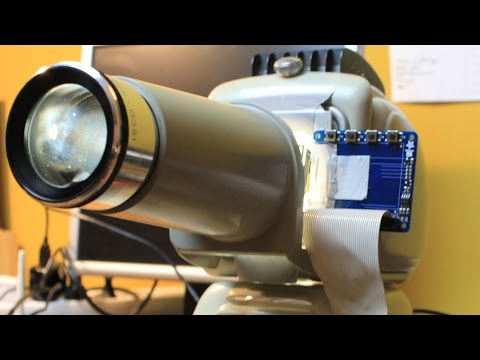Hack: DIY Projector with Raspberry Pi, PiTFT and Slide Projector ?