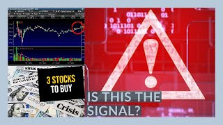 IS THE STOCK MARKET GOING TO CRASH!? - My Watchlist - 3 STOCKS TO BUY NOW!