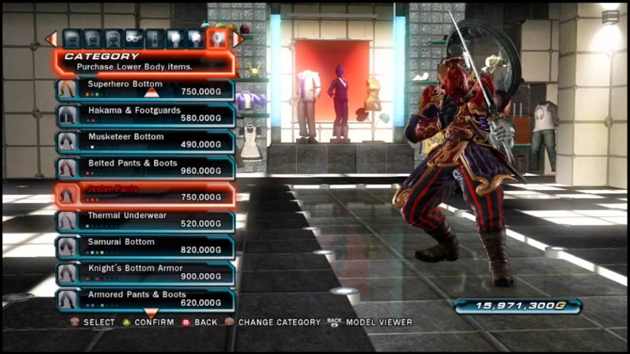Tekken Tag Tournament 2 A Look At Yoshimitsu S Purchasable Clothing Youtube