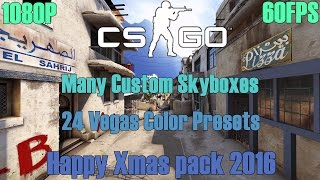"""[CS:GO] """"Happy Xmas Pack 2016"""" -24 Vegas Color Presets -Many Custom Skyboxes  [1080P/60FPS]"""