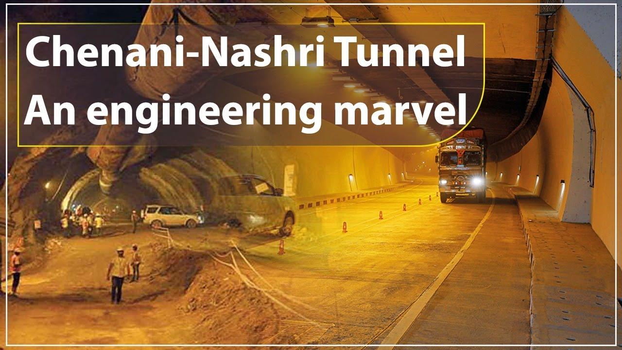 chenani nashri tunnel  engineering marvel youtube