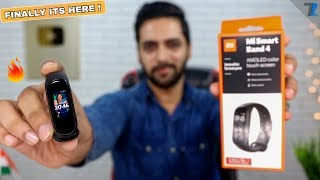 Mi Band 4 Indian Retail Unit - Unboxing & Hands On | WOW !
