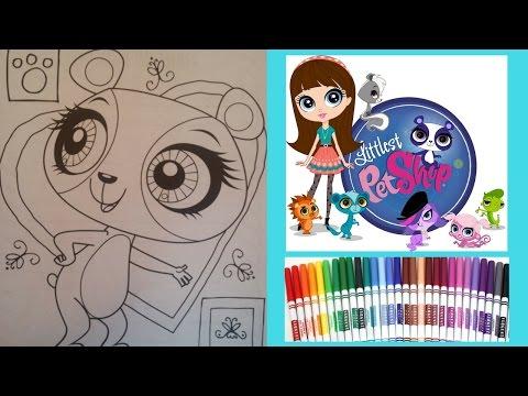 LPS Coloring Book - Littlest Pet Shop - Penny Ling - Speed Coloring to Music- Markers