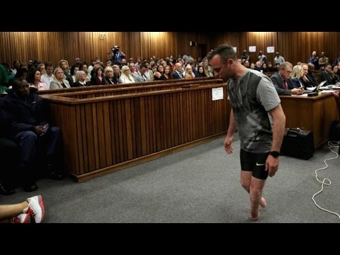 Oscar Pistorius Walks On Stumps In Courtroom Plea For Leniency