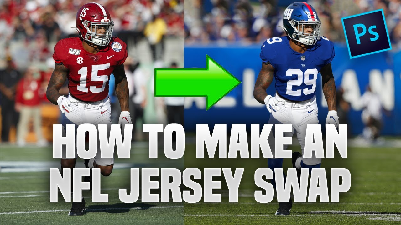 How to Make an NFL Jersey Swap   Photoshop Tutorial   McManusDesign