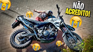 O MENOR DO GRAU DESTRUIU A XT660 !! 😭😭😭