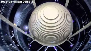 台北101阻尼器於20150808蘇迪勒颱風來襲晃動情況