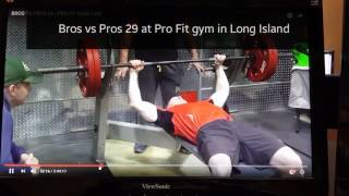 Bros vs Pros 29 Bench Press Competition