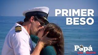 Papá a la deriva - Primer Beso de Violeta y Bruno!!