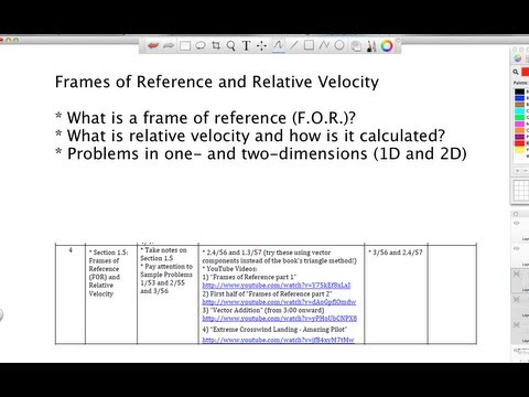 Relative Motion and Frames of Reference - Grade 12