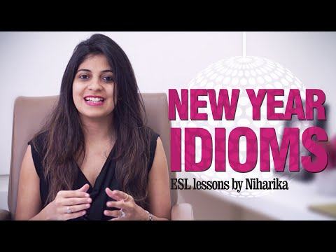 Idioms for the New Year - Free English Speaking lessons