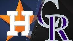 Blackmon's walk-off HR helps Rox top Astros: 7/25/18
