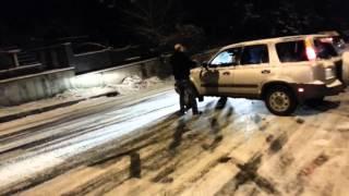 baxa buxi tbilisshi  crash car in georgia,tblisi snow