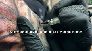 HOW TO TATTOO: HΟW TO TATTOO LINES, HOW TO LINE WITH BIG AND SMALL LINER NEEDLES