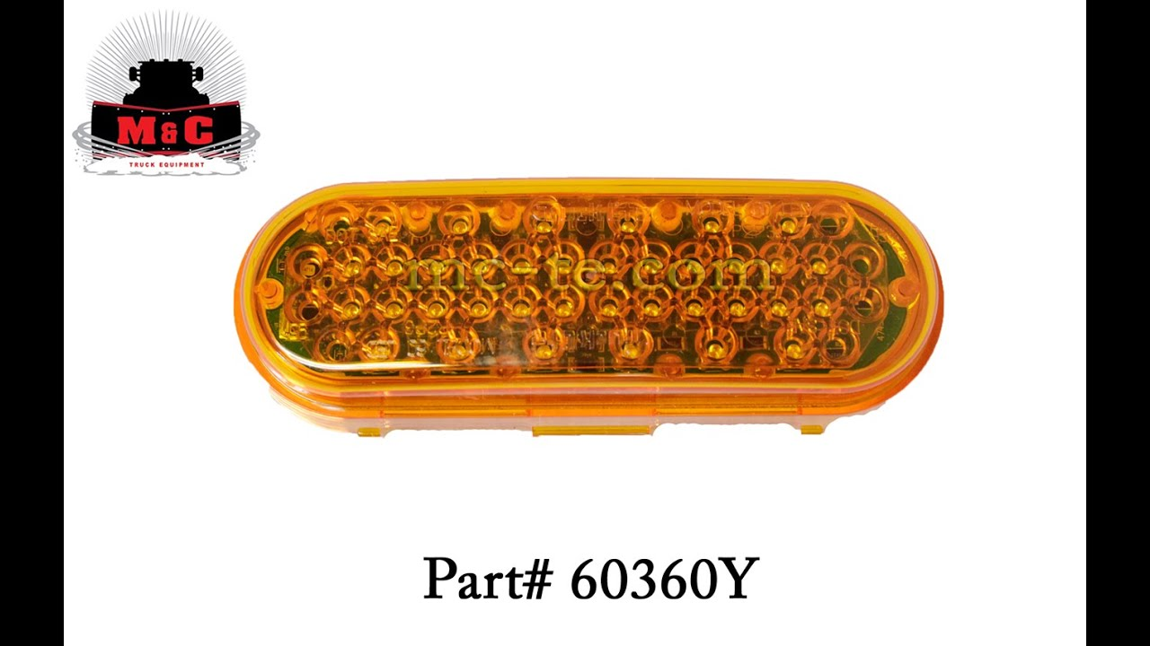 maxresdefault truck lite yellow super 60 led integral strobe 36 diode pattern truck lite model 60 wiring diagram at edmiracle.co