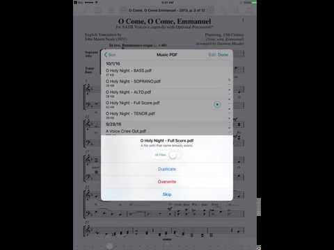 Adding Audio Files to your ForScore Sheet Music