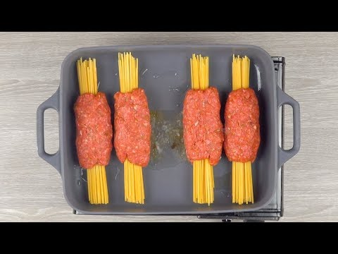 wrap-the-spaghetti-in-ground-beef-&-throw-it-in-the-oven-for-30-minutes