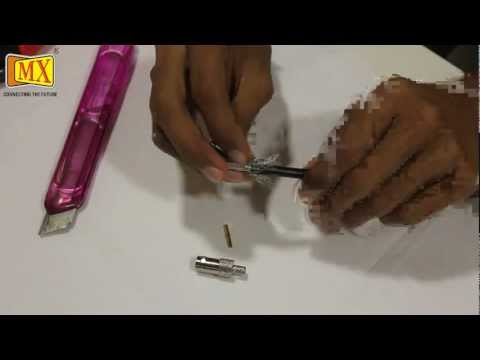 How to Crimp BNC Female Connector using Crimping tool on a Coaxial Cable