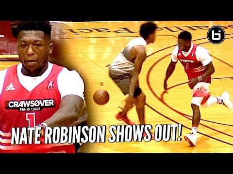 Thumbnail: Nate Robinson is STILL A MONSTER! Puts The MOVES on Defenders & Dunking at The Crawsover!!