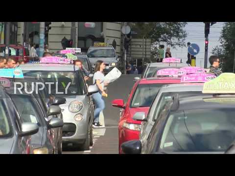 Serbia: Protesting taxi drivers cause jams in Belgrade