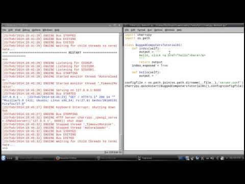 CherryPy - Tutorial 01: basics