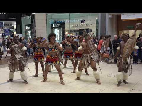 African Zulu Tribe in Eldon Square, filmed by Michael Boyers