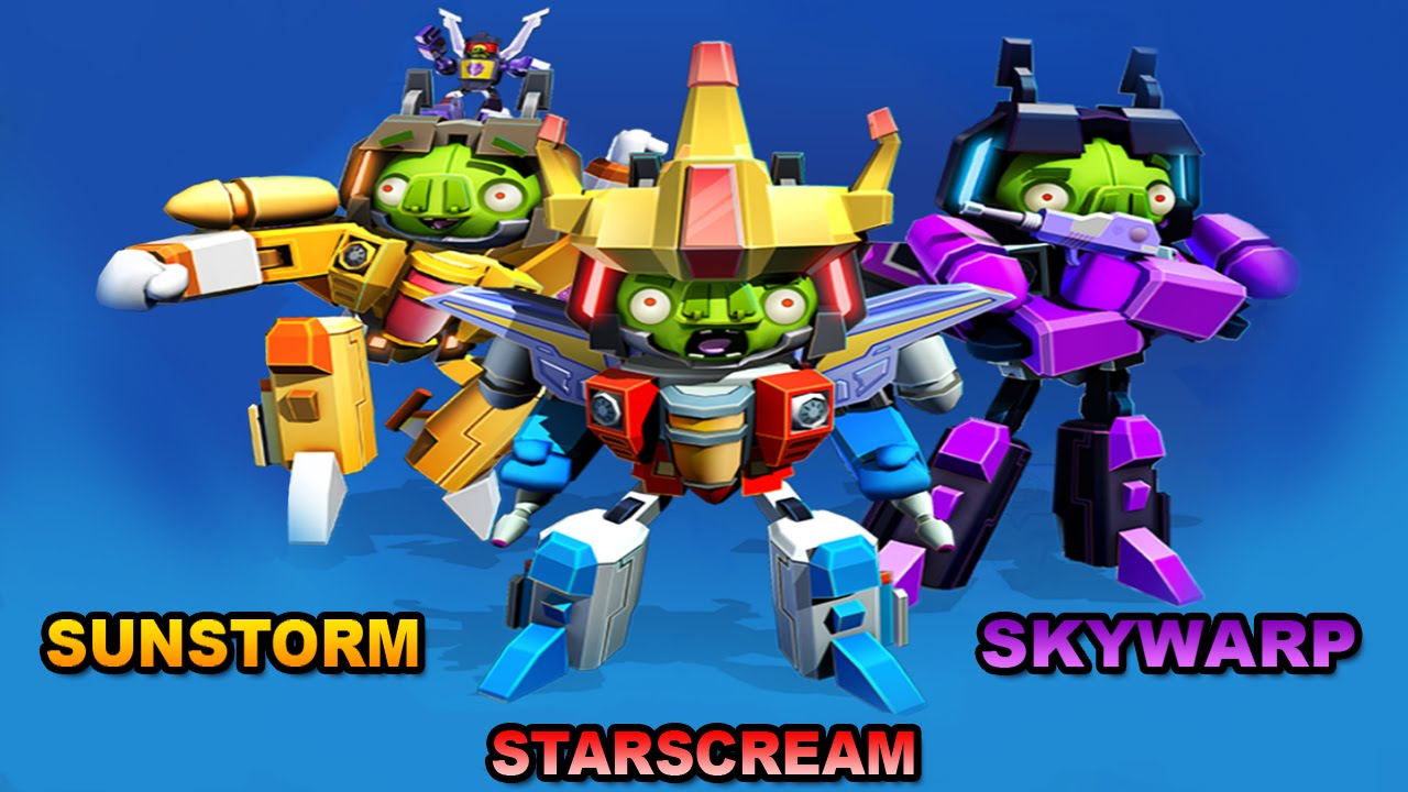 Angry Birds Transformers New Characters SUNSTORM / SKYWARP