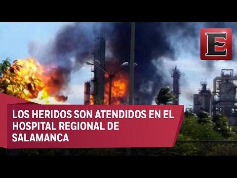 Ocho heridos tras explosión en la refinería de Salamanca