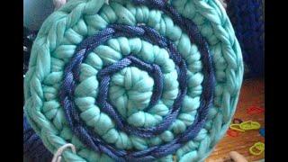 Спиральный круг и узор