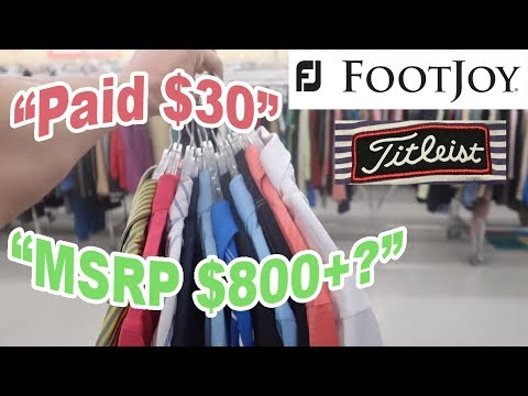 A Golfer Would Appreciate This..INSANELY CHEAP Footjoy Titleist Apparel Polos | Savers Thrift Haul