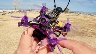 Eachine Lizard 105S DVR 4S Brushless Micro FPV Racer Flight Test Review