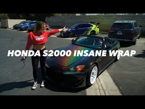 CRAZY WRAP COLOR | SABRINA x TJ HUNT HONDA S2000 WRAP REVEAL