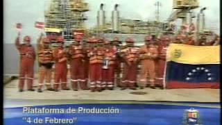 Pdte.Chávez conversa con trabajadores de plataforma de producción 4 de febrero