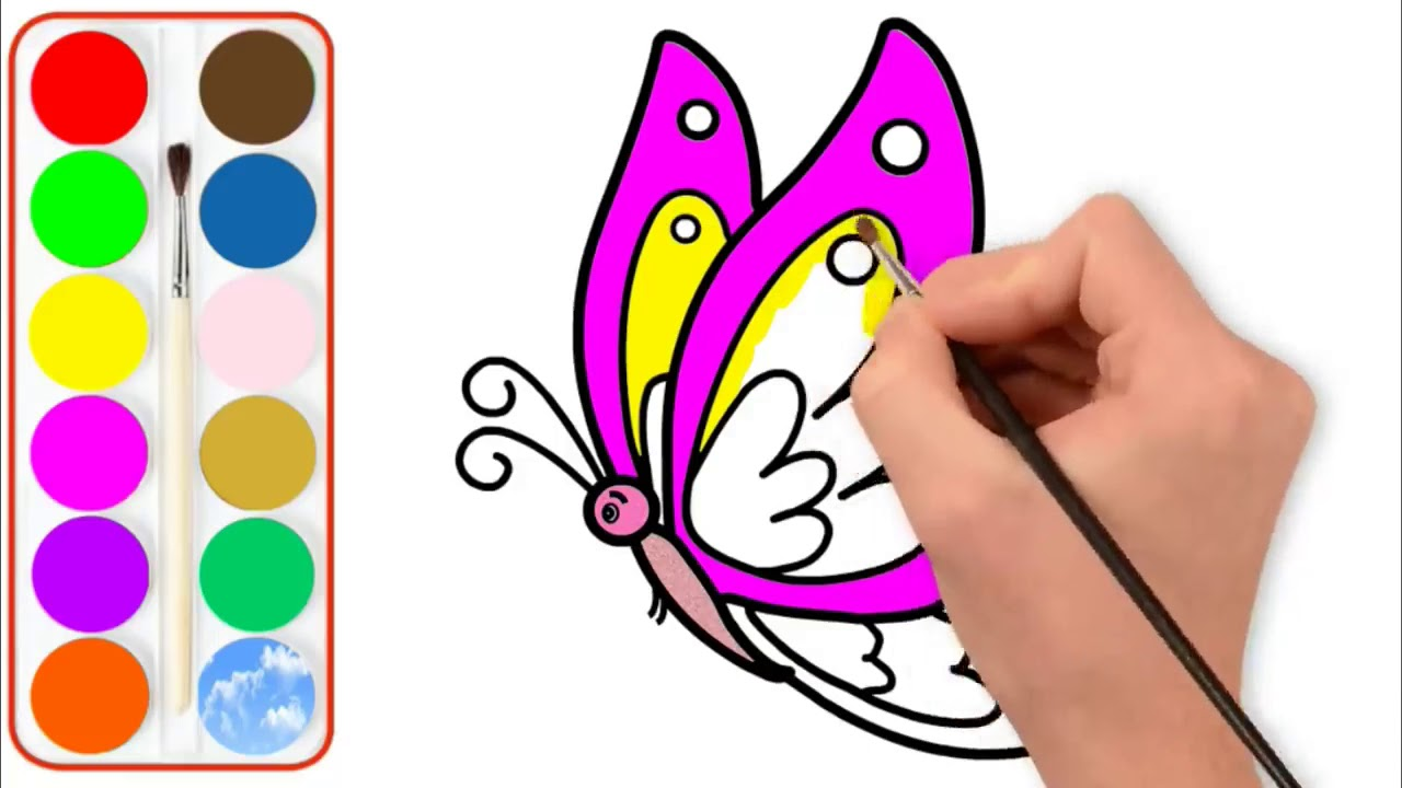 Kelebek Boyama Ve Cizimi Butterfly Boyama Ve Cizimi Youtube