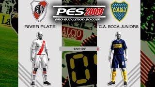 PES 2009 - River Plate vs Boca Juniors (Ortega-Falcao vs Riquelme-Palacio-Palermo)