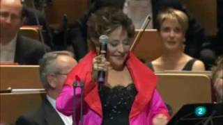 The speech of TERESA BERGANZA for Placido DOMINGO