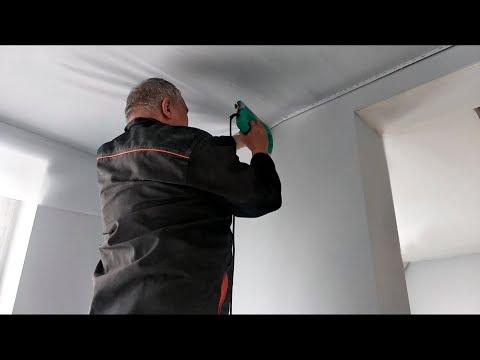 Почему стоит выбрать тканевый натяжной потолок при эконом - ремонте квартиры в новостройке в Киеве ?