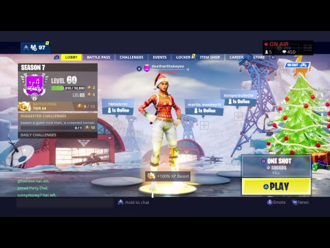 Fortnite! *LIVE* #Littytitty Road to 1k *VBUCK GIVEAWAY AT 1k* #roadto1k