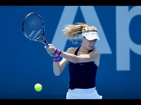 2017 Apia International Sydney Second Round   Genie Bouchard vs Dominika Cibulkova   WTA Highlights