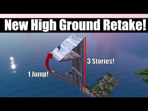 The *NEW* Advanced  High Ground Retake Tutorial! Fortnite Creative Building Drills