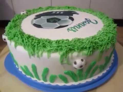 Fussball Torte Geburtstags Torte Fur Jungs Football Youtube