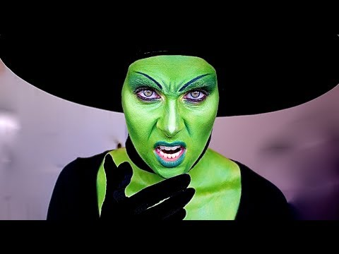 Wicked Witch of the West; Halloween makeup tutorial. - YouTube