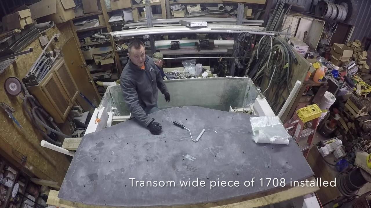 Grady White Seafarer Fuel Tank and Transom Installation