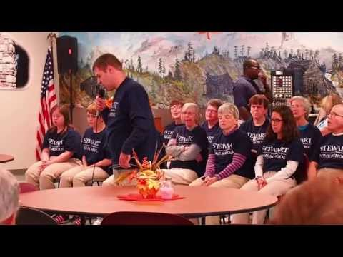 Stewart Home School Students Sing for Senior Center