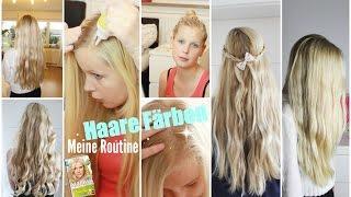 Haare Blond färben I Meine Routine Thumbnail